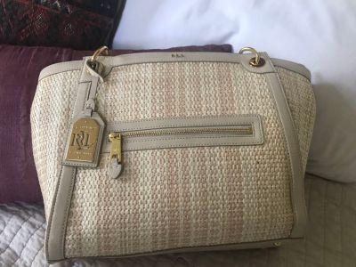 Ralph Lauren Straw summer handbag