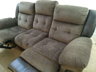 Sale of 3 Seater Tacoma Manual Reclining Sofa and Matching Sofa Table