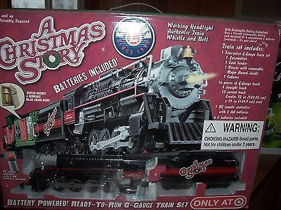 lionel - a christmas story- battery powered g-gauge train set - nib