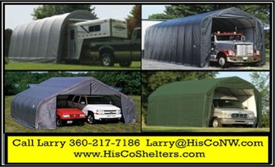 Portable Garage Shelter for Motorhome, 5th Wheel, RV and Boat