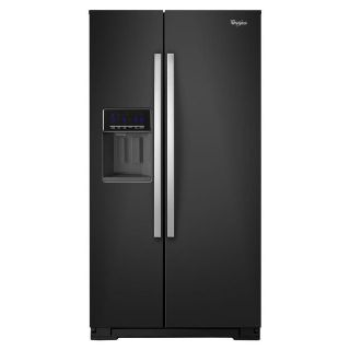 Whirlpool Side by Side Refrigerator Black Ice WRS586FIEE