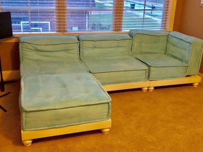 Pottery Barn Teen Teal/Turquoise sectional.