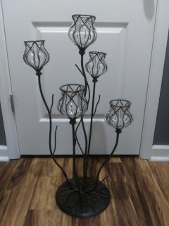 Metal & glass candle holder - Beautiful ..just no room in New house