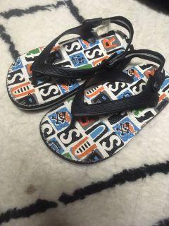 Pirate theme boys flip flop sandals 8-9