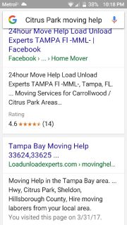 "TAMPA FLORIDA 33625   We are the ""LOAD.UNLOAD EXPERTS"" !!"