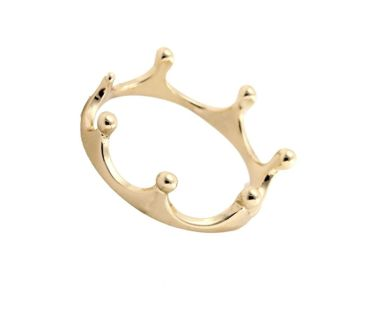 New Crown Tiara Midi Knuckle Rings in Gold - Sz 6.75 (meant to wear on pinky finger or above knuckle)