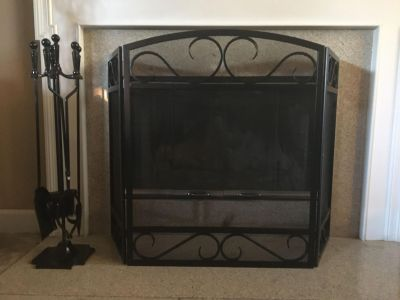 Like New Fireplace Screen & Fireplace Tools - Both for 50