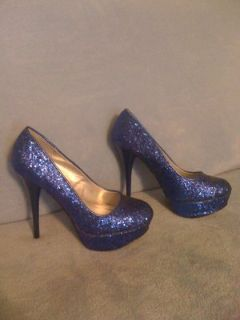 REDUCED!New,sz.8,Super Sexy,Royal Blue,Sparkly Pumps