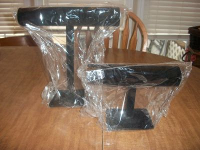 Two Black Velvet Jewelry stands
