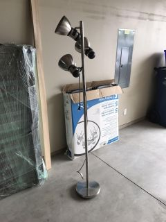 Silver standing lamp