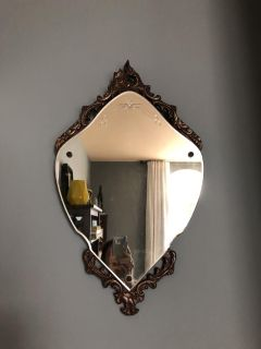 Vintage Mirror w/ Antique Gold/Wood Carving