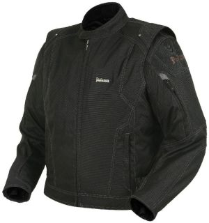 Purchase Pokerun 3 In 1 Mens Black Large Textile Motorcycle Mesh Jacket Vest Lrg Lg motorcycle in Ashton, Illinois, US, for US $149.95