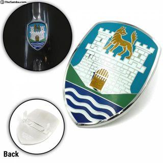 VW Wolfsburg Crest - Blue Hood Badge Emblem
