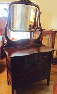 $350, Mahogany Dresser with Mirror