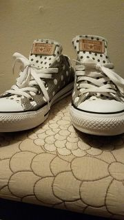 Polka dot All Star Converse Shoes size 8
