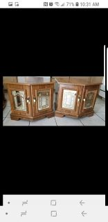 Two beautiful vintage side tables with storage
