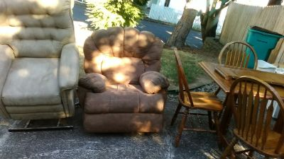 Micro fiber sofa & recliner  good condition