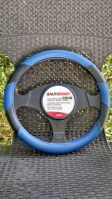 New: AutoCraft Blue Sport Style Steering Wheel Cover -> $6.