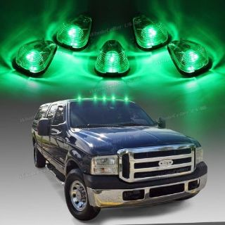 Sell For 99-16 Ford E/F,Clear Cover Cab Marker Light 264143CL+158 5050 Green LED 5pcs motorcycle in Milpitas, California, United States