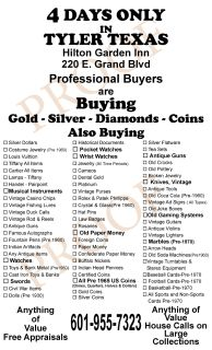 We Will Be Buying Gold and Silver Jewelry and Coins at This Event. 11/2-11/05 2017