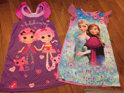 2 nightgowns girls size 6
