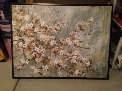 Flower painting home decor