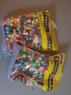 two bags of beads