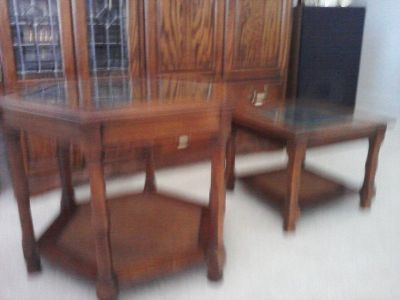 Matching End Table and Bunching Tables