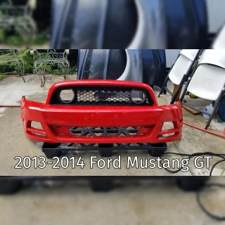 2013-2014 Ford Mustang GT Front Damaged Bumper Cover with Grille