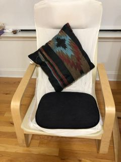 2 IKEA chair+cushion+cushion seat