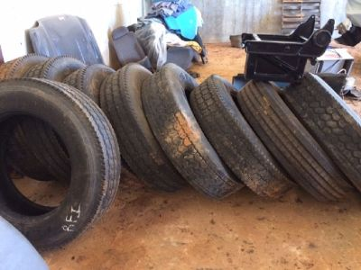 Big rig used Tires, Rims & Virgin tires
