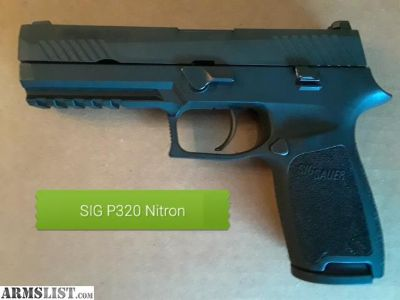 For Sale/Trade: Sig P320 Nitron 9mm