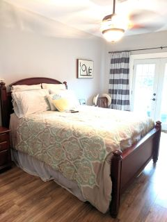 Solid wood Broyhill Queen bed from Schleider's.