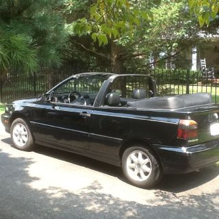 1998 VW Cabrio GLS black w/ black leather interior