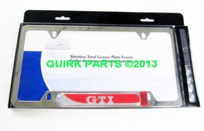 Buy VW Volkswagen GTI Polished License Plate Frame GENUINE OEM BRAND NEW motorcycle in Braintree, Massachusetts, United States, for US $34.99