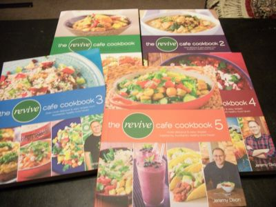 Revive Cafe' Cook Books Set of 5