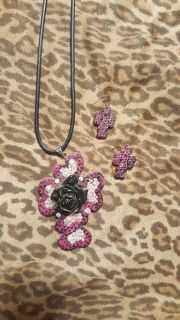 Cross Statement Necklace and Earrings