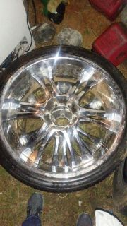 """2 22""""s and 2 20"""" rims"""