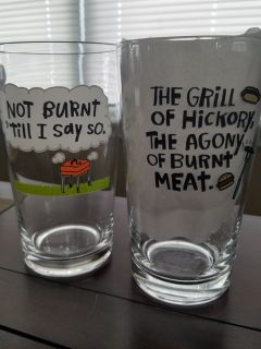 7 Grill Theme Glasses
