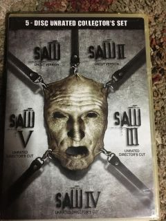 Saw 5 disc Unrated Collector s Set. County line and 725.