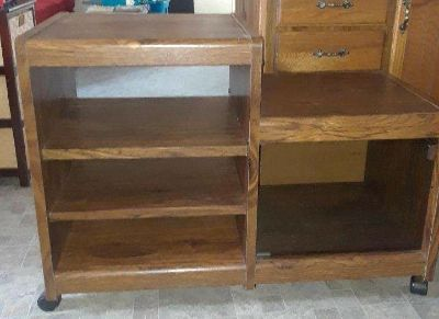 TV stand shelf with wheels