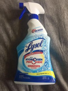 Lysol multi purpose cleaner - with hydrogen and peroxide