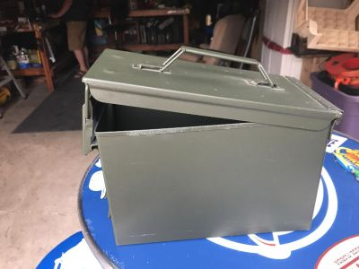 NEW Ammo Box, never used. Metal