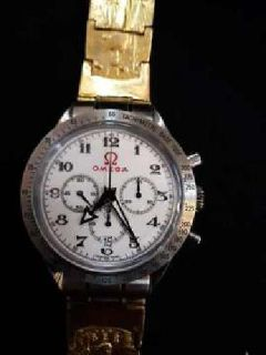 2018 OMEGA WATCH SPEEDMASTER WITH 116 gr 22CT SOLID GOLD JEWELRY
