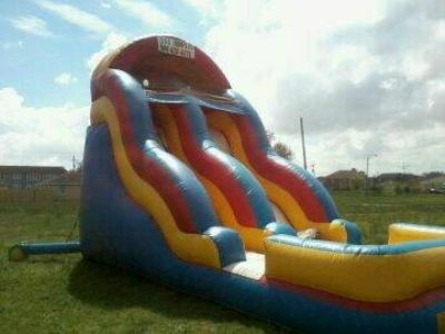 18 FT WET DRY FUN JUMP SLIDE WITH BLOWER