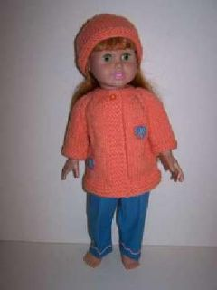 Doll Clothes - Sweater, Pants and Hat
