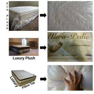 Twin Mattress + Box Spring *Affordable Delivery, All Sizes, 3 Styles