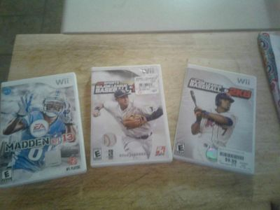 Wii sports games lot