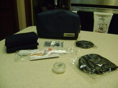 Overnight Amenities Kit In Zippered Case - NEW - (Toothbrush, ETC.)