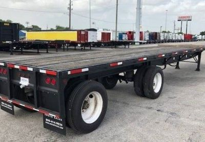 2001 Daco 227181-Flatbed-Trailer
